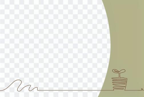 단순 후타바 카드 카키