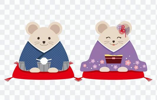 日本鼠標的插圖