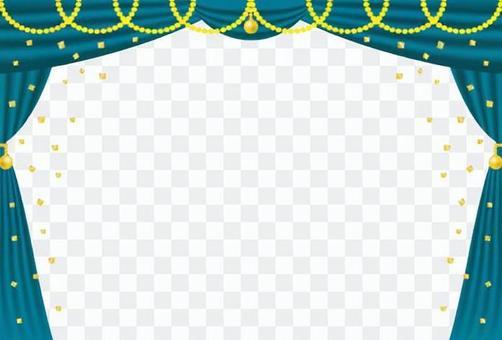 海豚·海藍色和金色(無背景)
