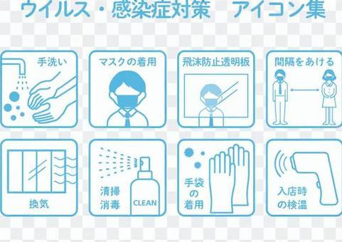 病毒/傳染病對策圖標8種設置
