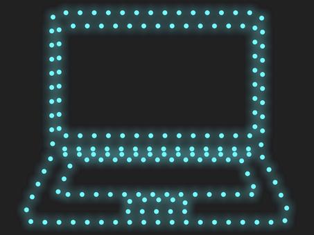 筆記本電腦照明圖標:藍色