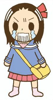 哭的時候生氣的女孩