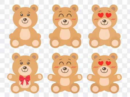 熊填充动画集