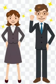 男性和女性員工構成