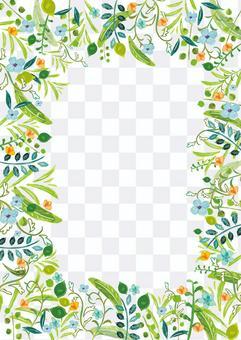 水彩風格植物背景素材