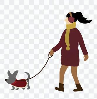 walking狗的女人