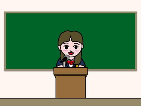講台(4)介紹學校女生