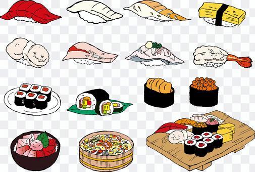 壽司插圖材料分類