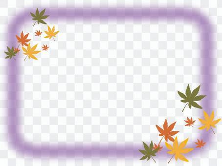 楓葉和框架 - 紫色
