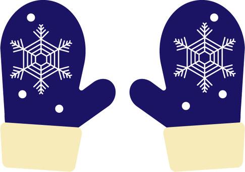 手套 03 連指手套 藍色