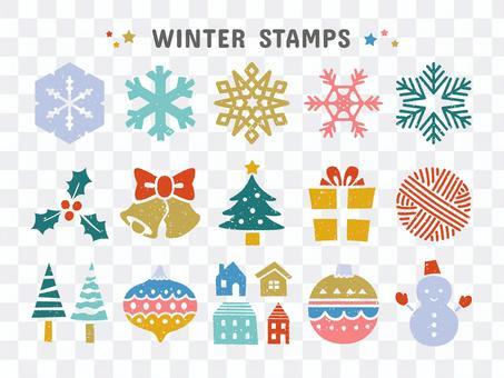 冬季/聖誕節郵票套裝