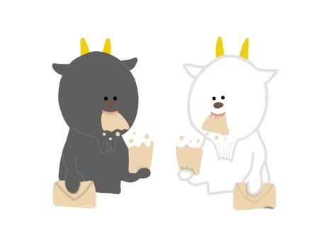 白山羊和黑山羊吃字母