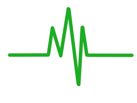 心電波形綠色
