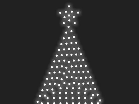 聖誕樹燈飾 B:白色