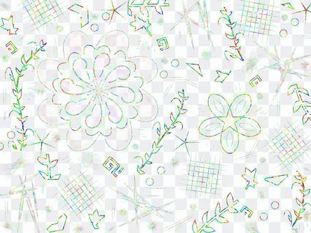 Flower colorful design background / wallpaper 1