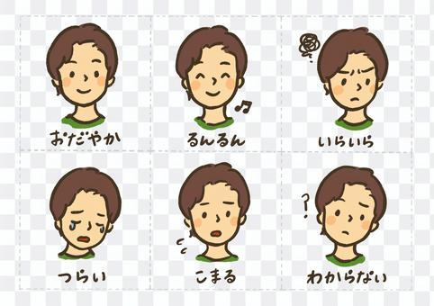 表達感情的表情套裝①