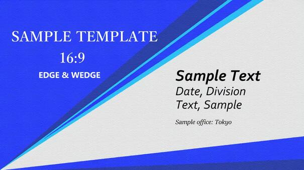 Business template blue roughness 16: 9