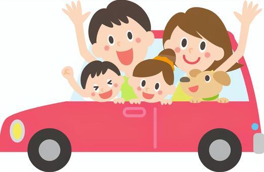 与家人一起开车