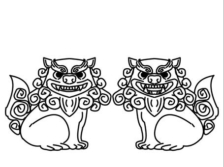 Shisa (line drawing)