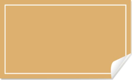 棕色密封框架