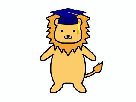 ライオン 学士帽