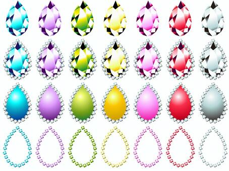 Drop drop type jewel set