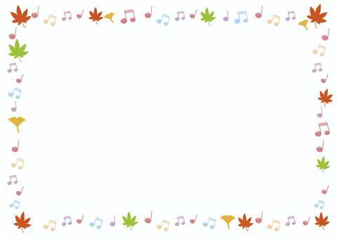 秋天的筆記框架