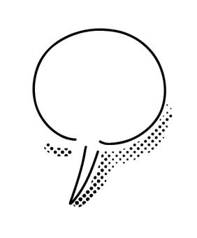 語音氣球簡單的圓形圓點圖案