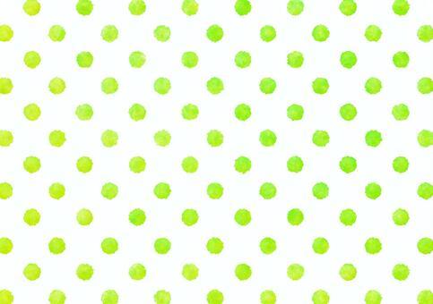 水彩圓點波爾卡圓點紋理·黃綠色
