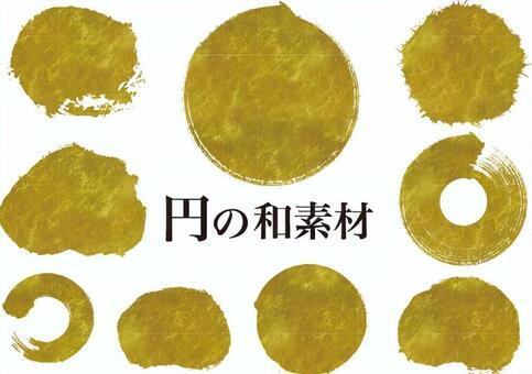金箔圈日本素材