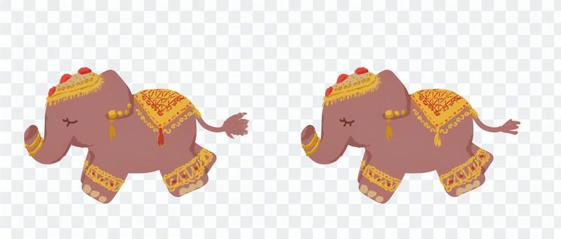 印度大象當場差異圖