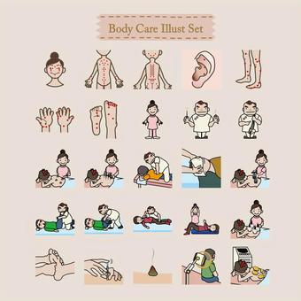 身體護理插圖