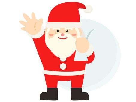 簡單的聖誕老人插圖