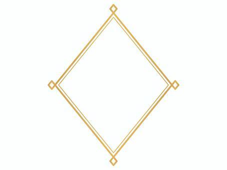 Simple decorative frame rhomboid