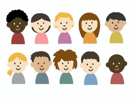 性別減少多樣性的插圖