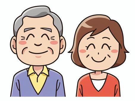 高级夫妇与微笑