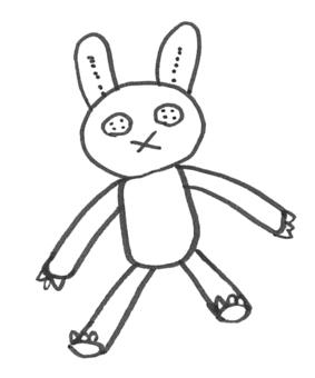 兔子填充动物
