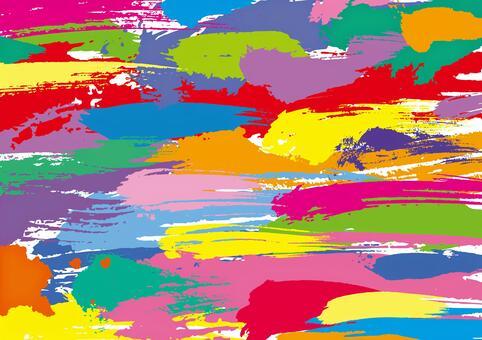 毛筆のストローク カラフルな壁紙