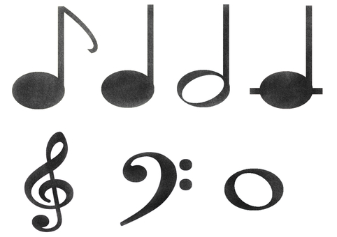 Musical note set (black)