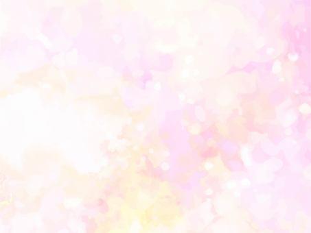 粉紅色和黃色水彩紋理背景