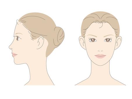 女性面孔_前面和外形