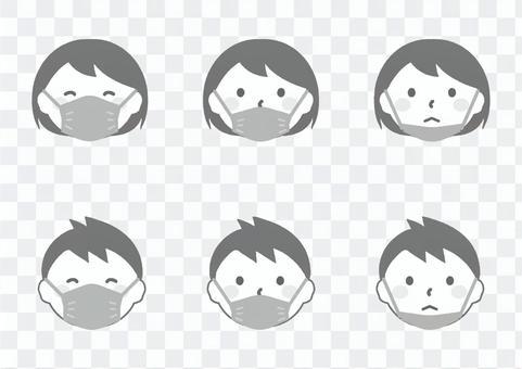 如何正確戴上口罩的圖示_簡單