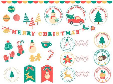 Christmas frame set color