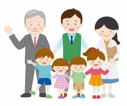 Teachers and children 01