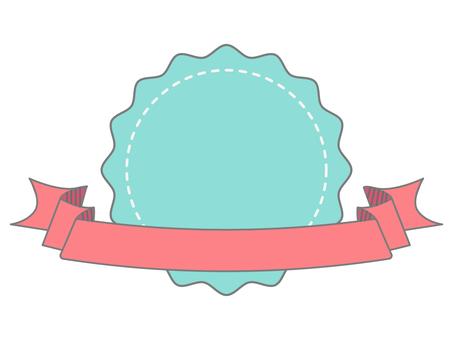 可愛的圓形和絲帶文本框架