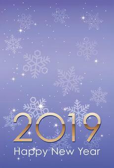 2019新年賀卡模板