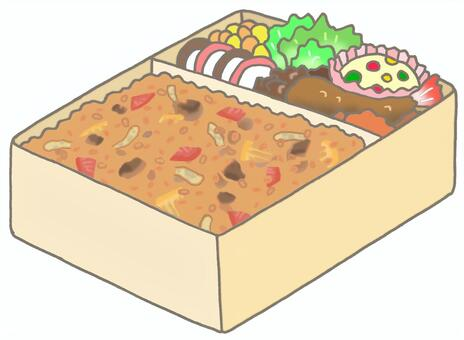 熟米飯盒飯