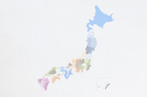點日本地圖的日本紙