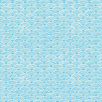 青海波浪日本傳統樣式手寫的例證