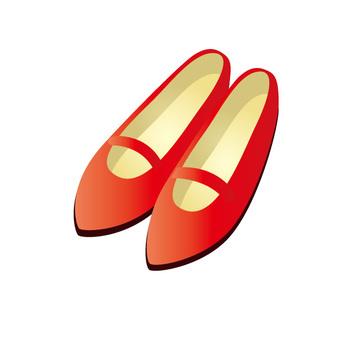 鞋子(紅色)